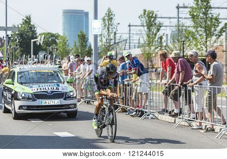 The Cyclist Brice Feillu - Tour De France 2015