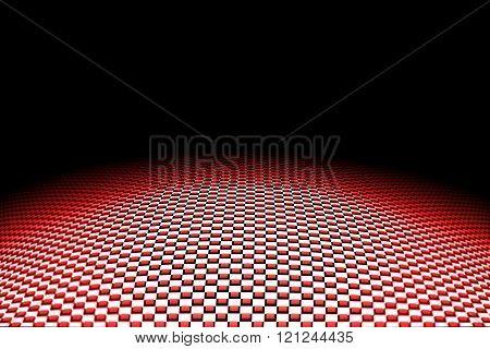 Red Curve Carbon Fiber