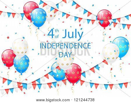 Independence Day Background With Balloons