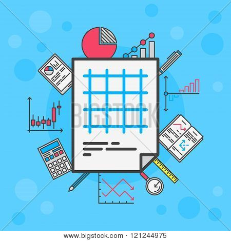 Statistics vector illustration