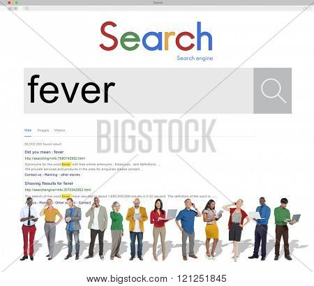 Fever Headache Heat Body Temperature Illness Concept
