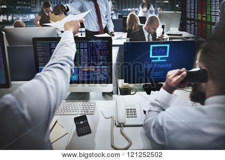 Software Digital Electronics Internet System Data Concept