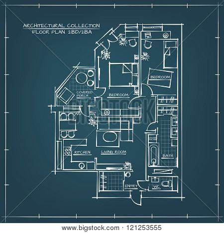 Architectural Blueprint Floor Plan