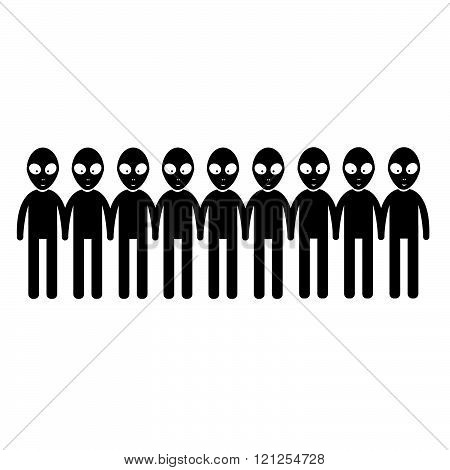 Alien Icon Illustration Design
