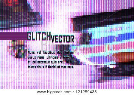 purple screen glitch