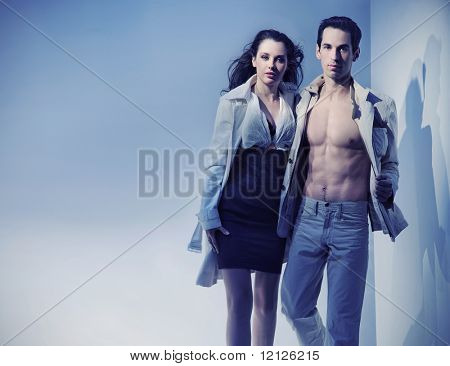 Dynamic photo of a sexy couple