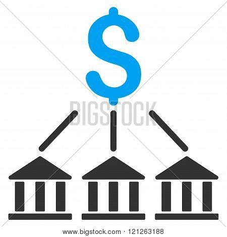 Bank Association Flat Vector Icon