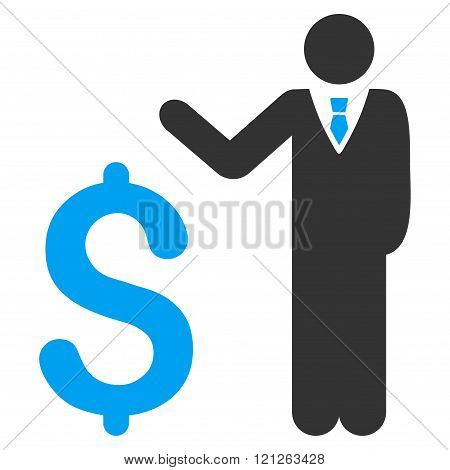 Banker Flat Vector Icon