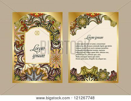 Elegant Card With A Floral Pattern Mandala.