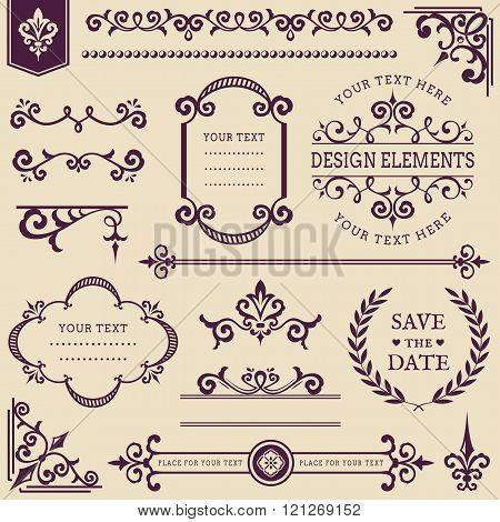 Vector Vintage Design Elements.