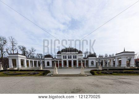 Old casino culture and arts center in the Cluj Napoca central park in the Transylvania region of Rom