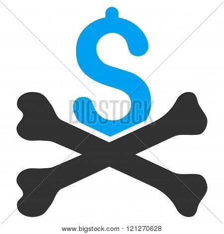 Mortal Debt Flat Vector Icon