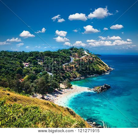Yanui beach and Promthep cape in  Phuket, Thailand.