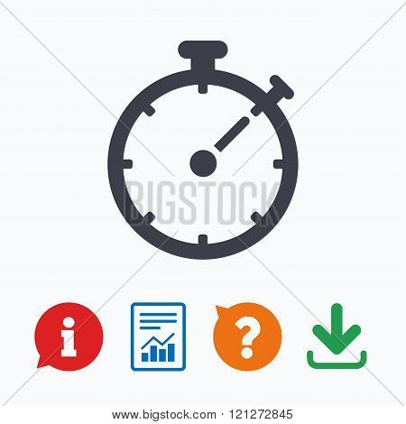 Timer sign icon. Stopwatch symbol.
