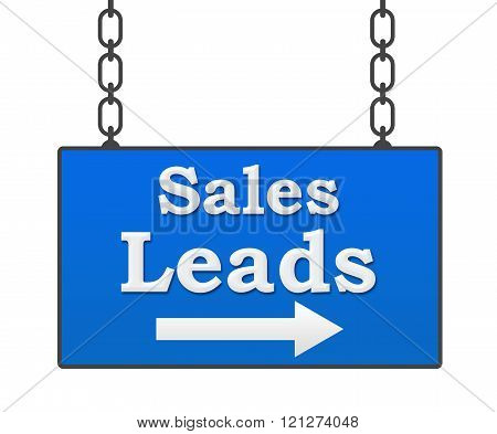 Sales Leads Hanging Signboard