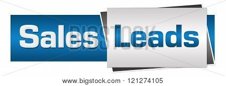 Sales Leads Blue Grey Horizontal