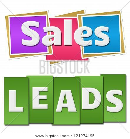 Sales Leads Colorful Squares Stripes