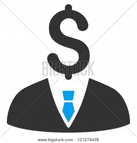 Businessman Flat Glyph Icon