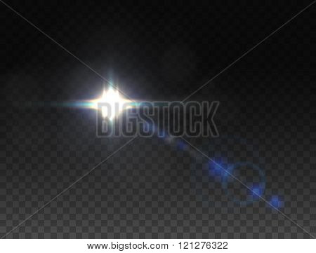 Realistic Lens Flares Star Lights And Glow Color Elements