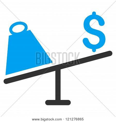 Market Price Swing Flat Glyph Icon