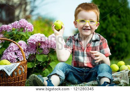 Funny Boy On Picnic