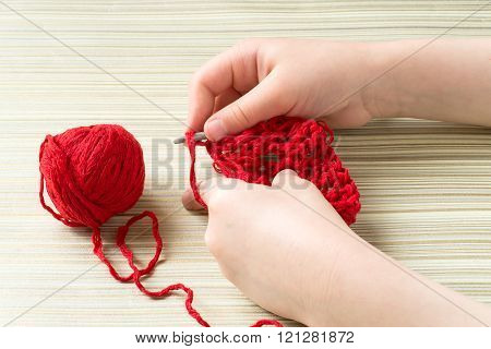 Children Hand Knit Crochet