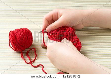 Children Hand Knit Crochet