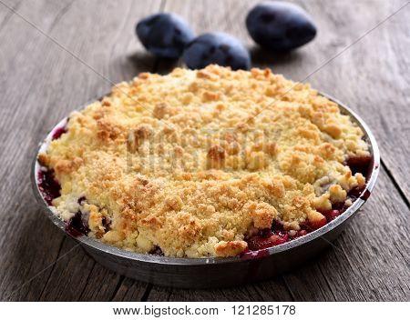 Plum Crumb Pie