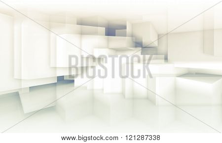 Background With Chaotic Cubic Structures, 3D