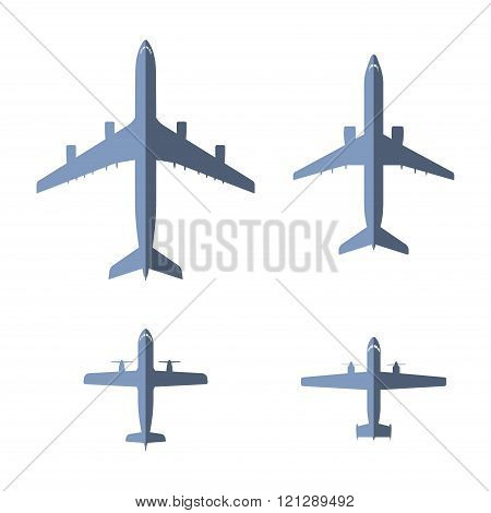 Airplane Flat Icons