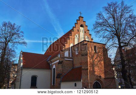 Catholic Gothic church in Poznan