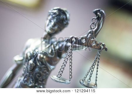 Legal Justice Statue In Law Firm Office