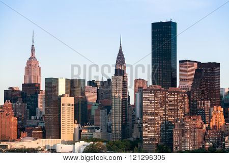 New York City Manhattan Midtown Cityscape During Sunny Spring Day