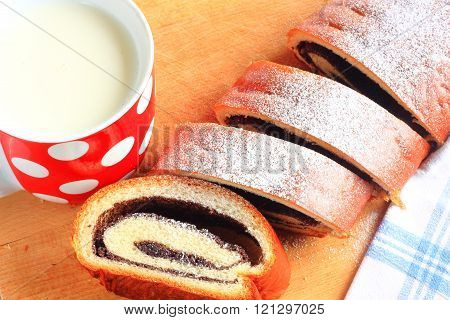Poppy Seed Strudel And A Cup Of Milk