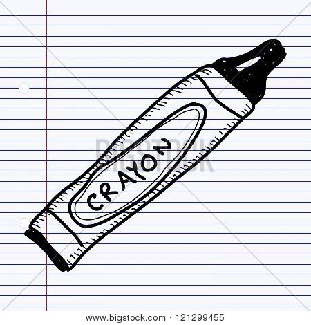 Simple Doodle Of A Crayon