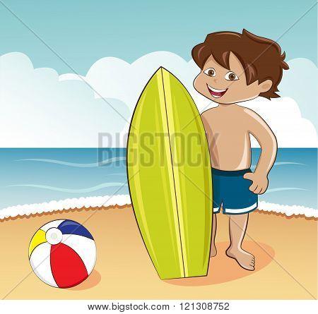Little surfer