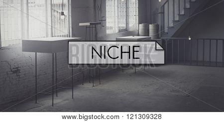 Niche Consumer Specialty Target Branding Area Concept