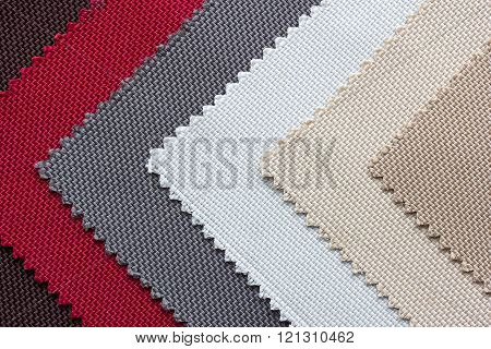 Color Tone Of Fabric Swatch Samples