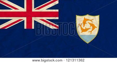 Anguilla paper  flag