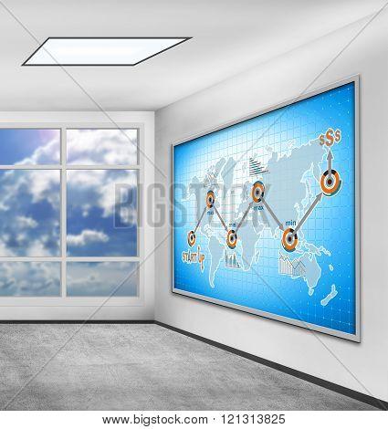 scheme start up concept on screen plasma panel