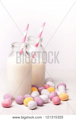 Milk and easter eggs