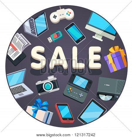 Modern technology store sale advertisement banner