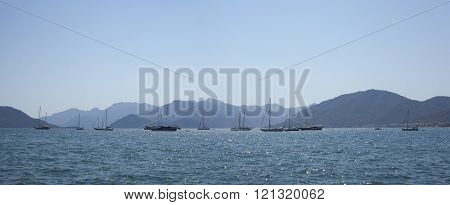 Beautiful turkish landscape, taken Marmaris - panorama