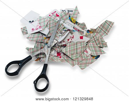 Playing Cards Scissors-destroy