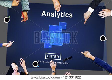 Analytics Analysis Data Information Research Concept