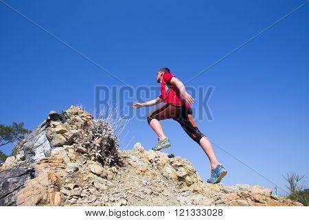 Trail running.