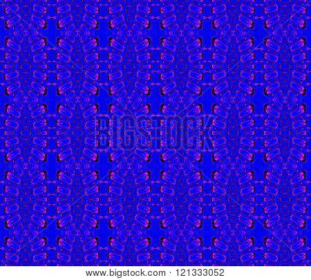 Seamless ellipses pattern blue magenta violet