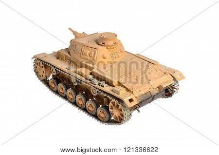 Scale Model Of A German Tank From Wwii. African Camouflage