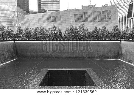 One Of The Two National September 11 Memorial Pools.