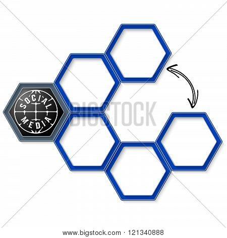 Vector hexagons